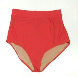 Cacique Coral Orange High Waist Bikini Bottom